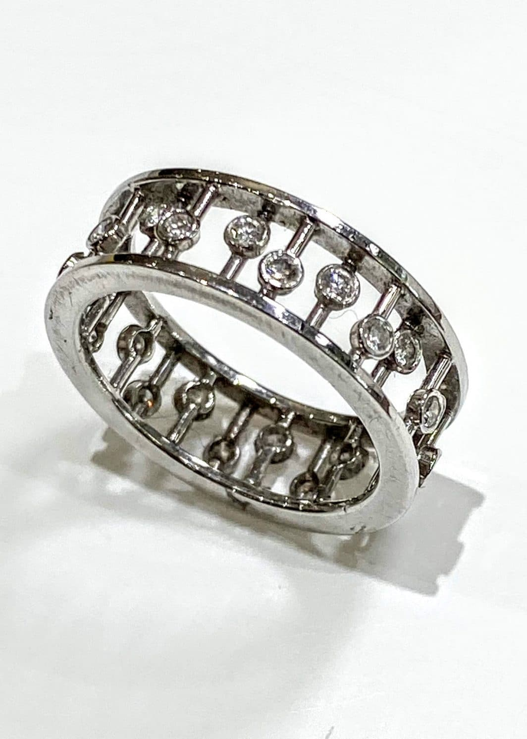 Lady's Platinum Spoked Ring