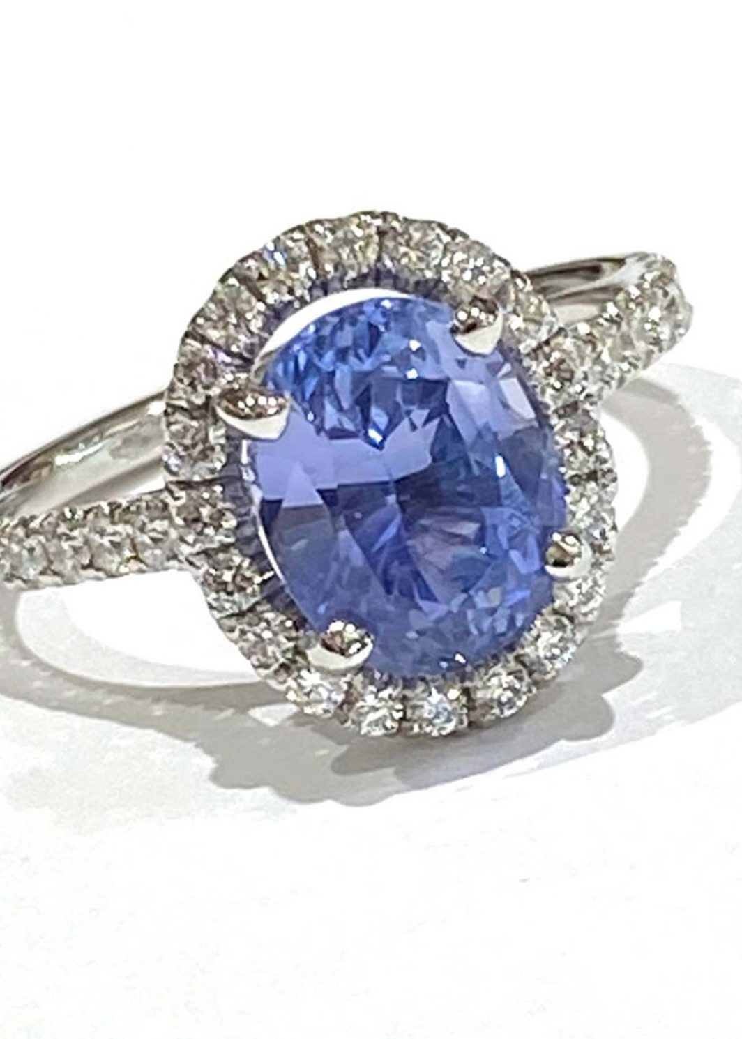 Ladys Diamond and Sapphire Ring