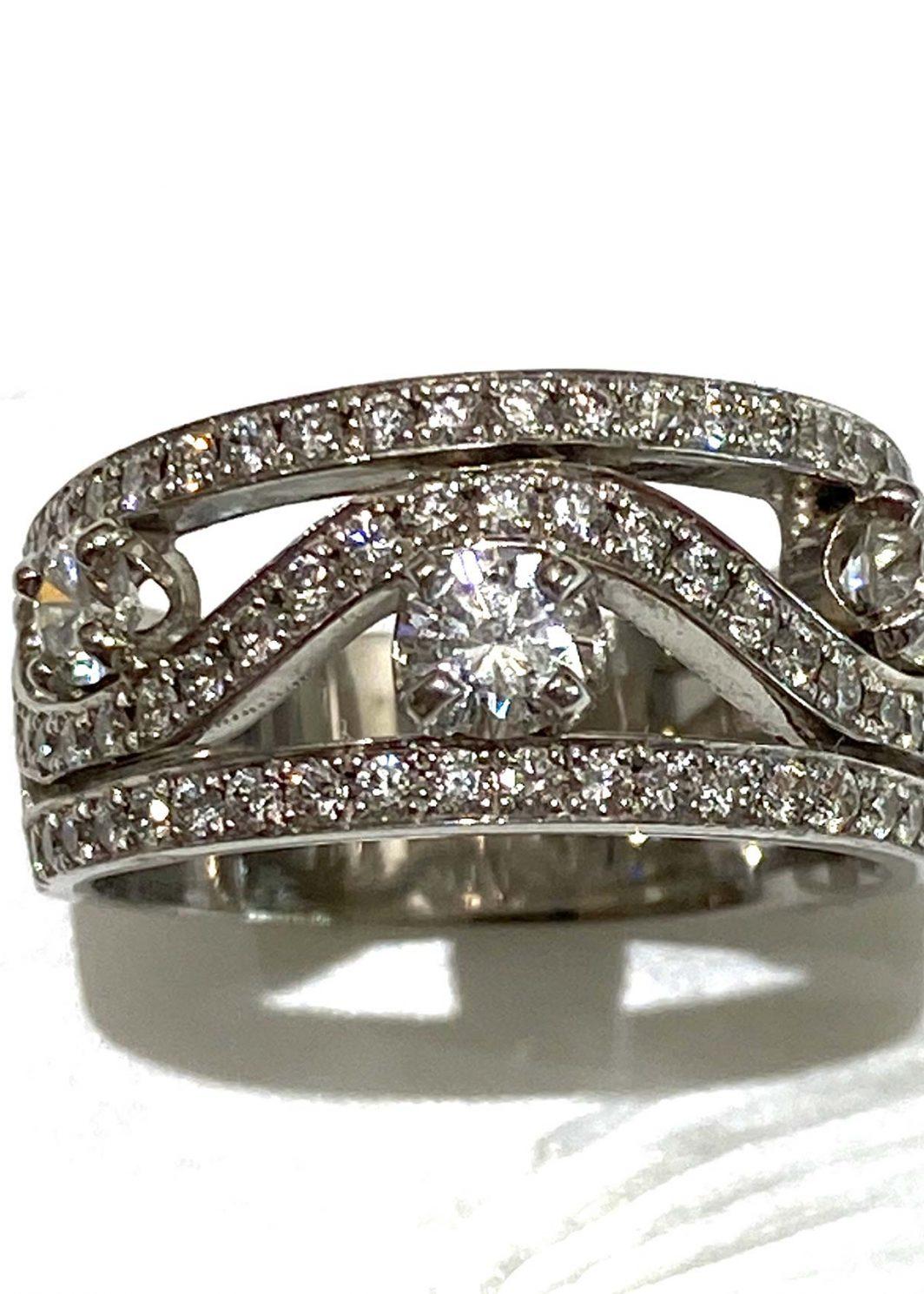 Custom Made Diamond Ring Wave