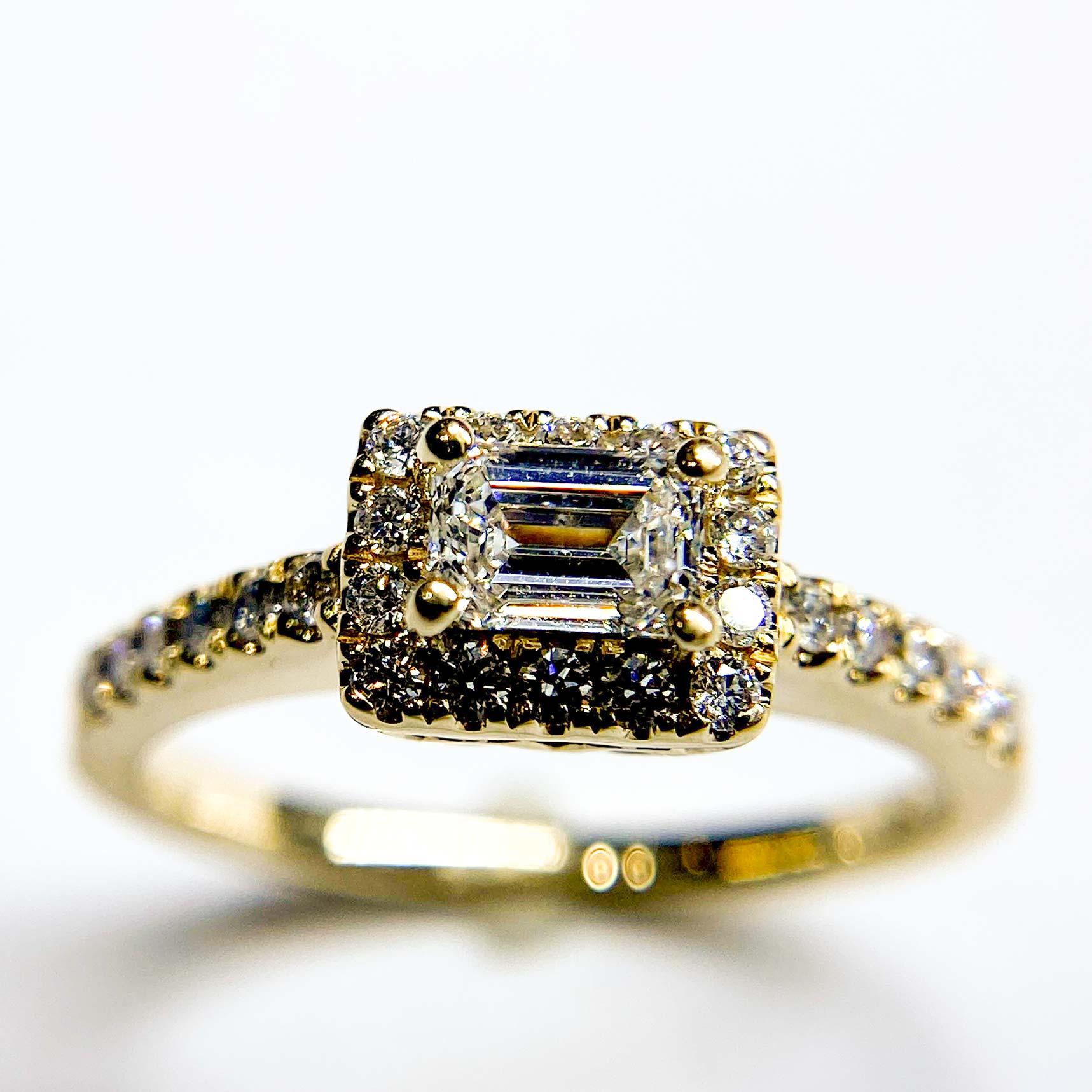 Emerald Cut Diamond Engagement Ring Robert And Gabriel Jewelers