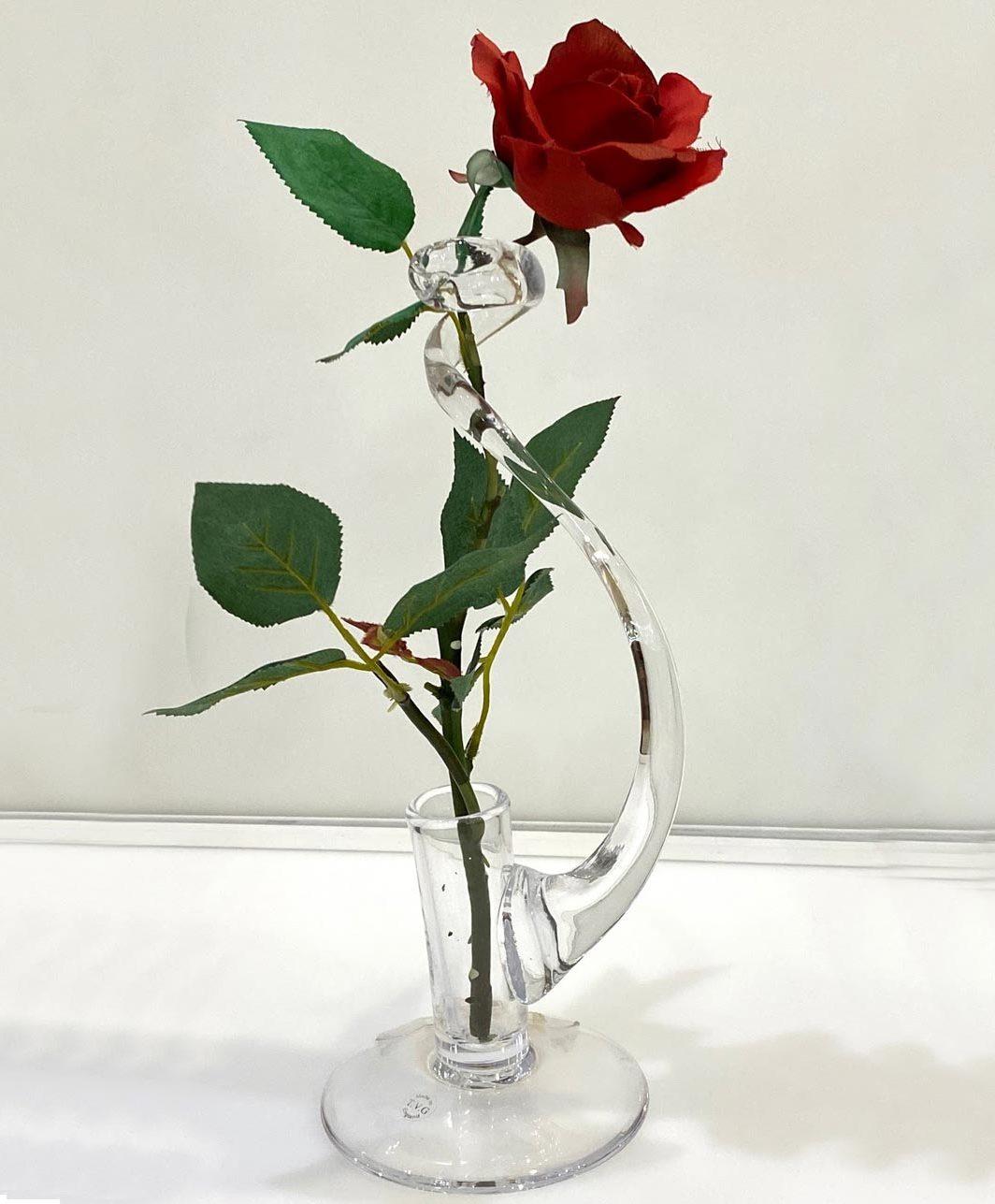 Twisted Single Stem Vase ( Glass)