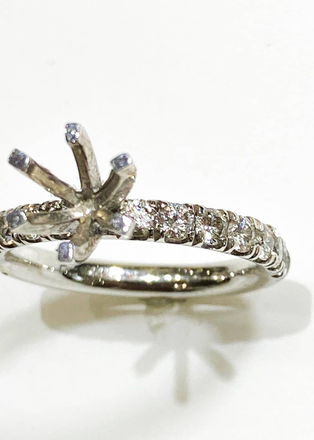 White Gold Diamond Engagement Ring Mounting