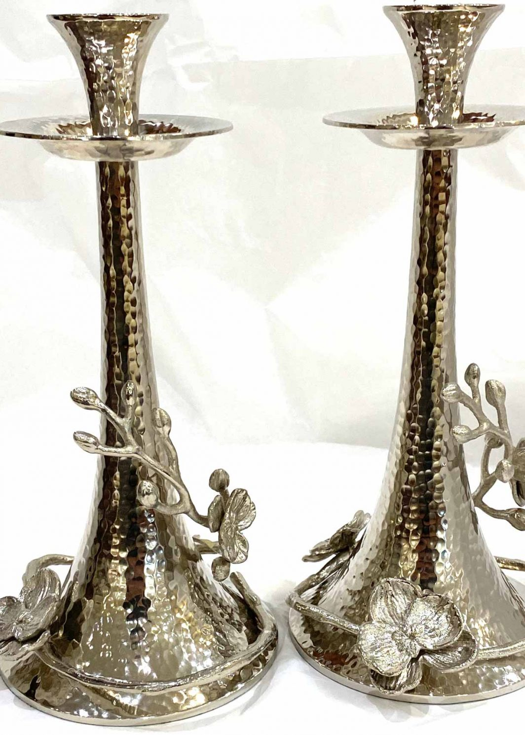 Michael Aram White Orchid Candle Holders