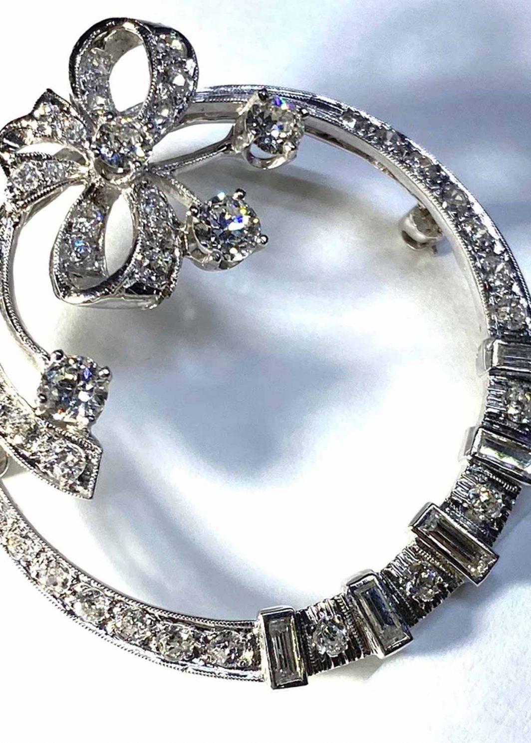 Diamond Circle Pin