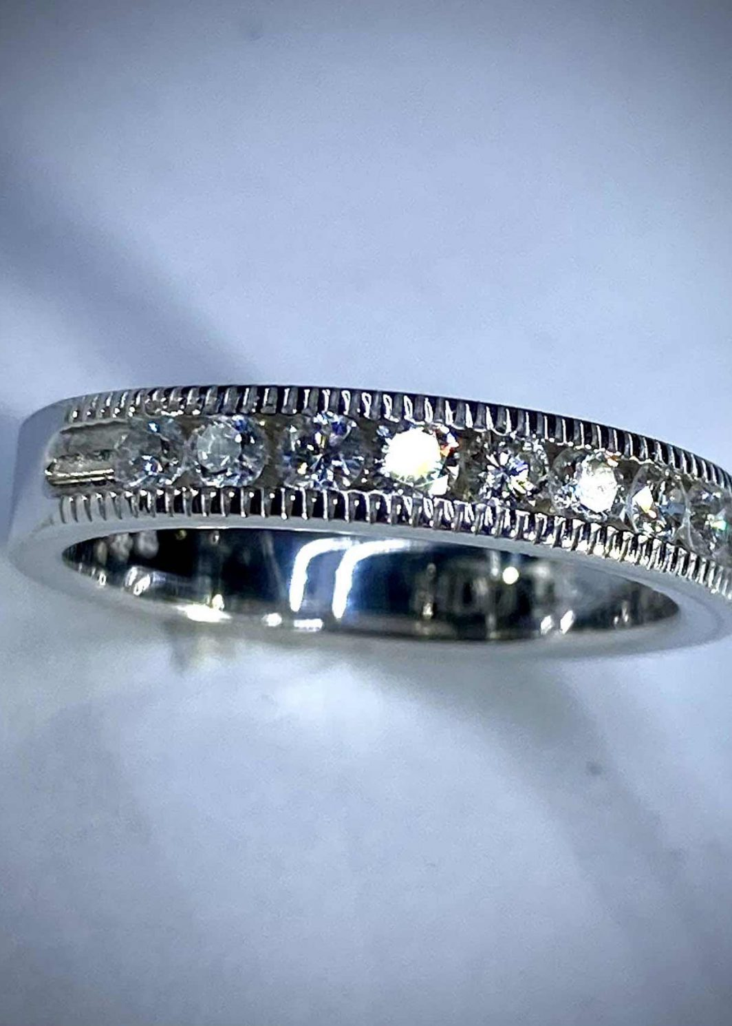 14K White Gold Diamond Band (105-26)