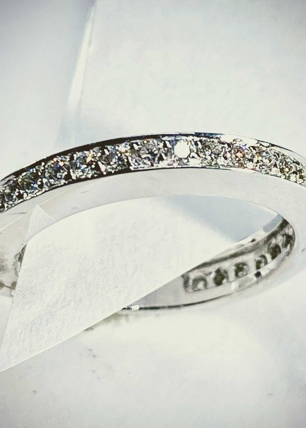 14K White Gold Diamond Band (105-573)
