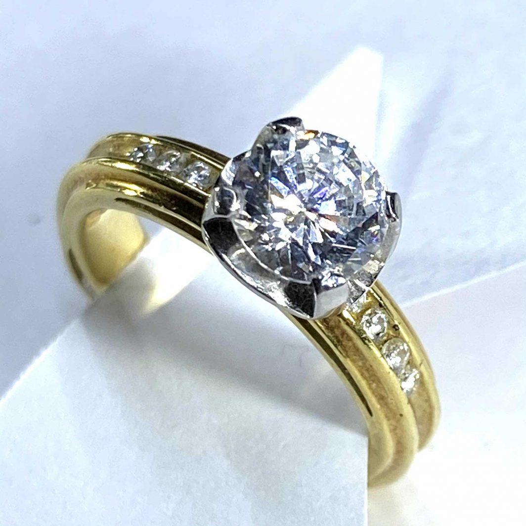 Engagement Ring Yellow Gold 18K (103-43)