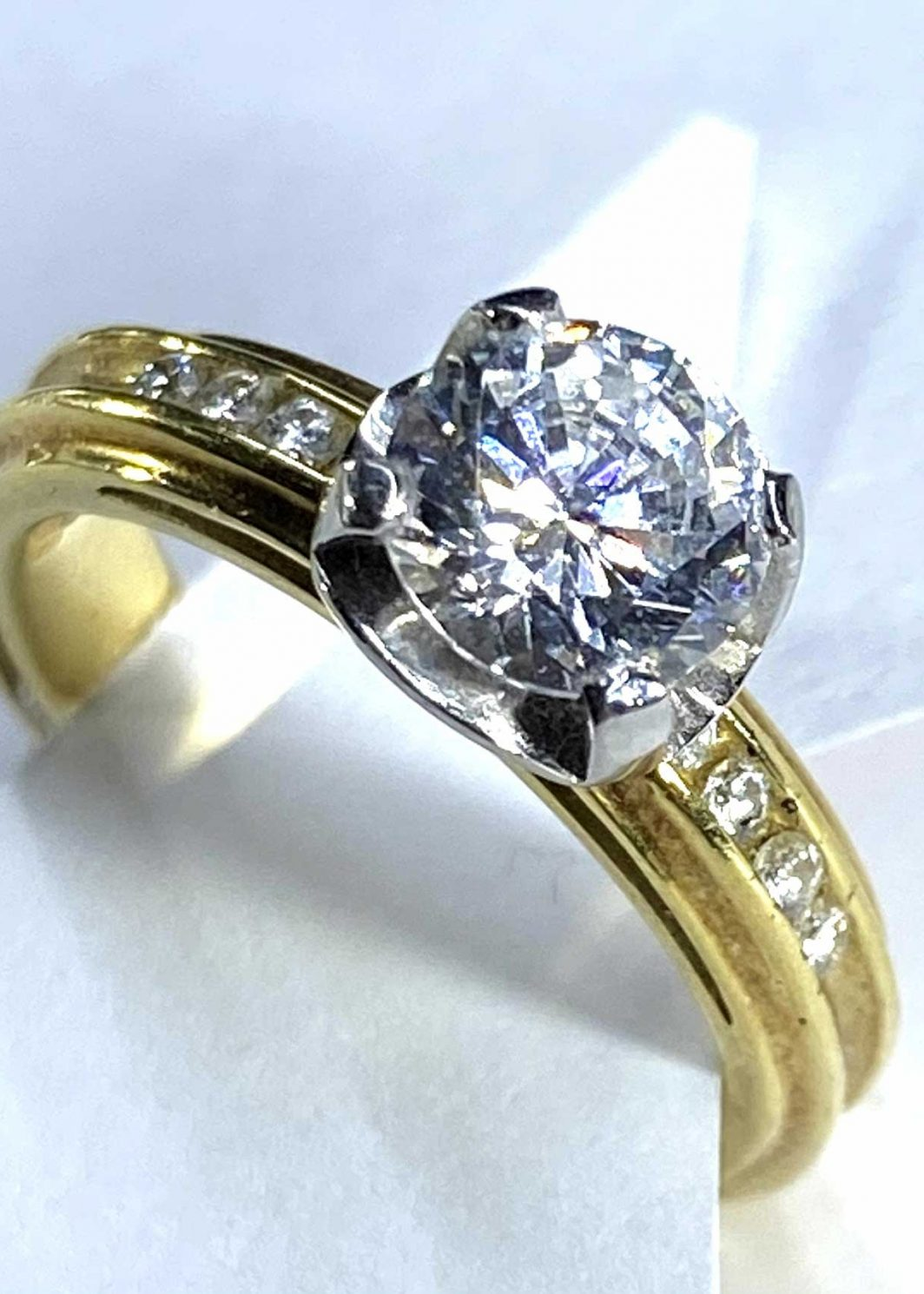 Engagement Ring Yellow Gold 18K (103-43)